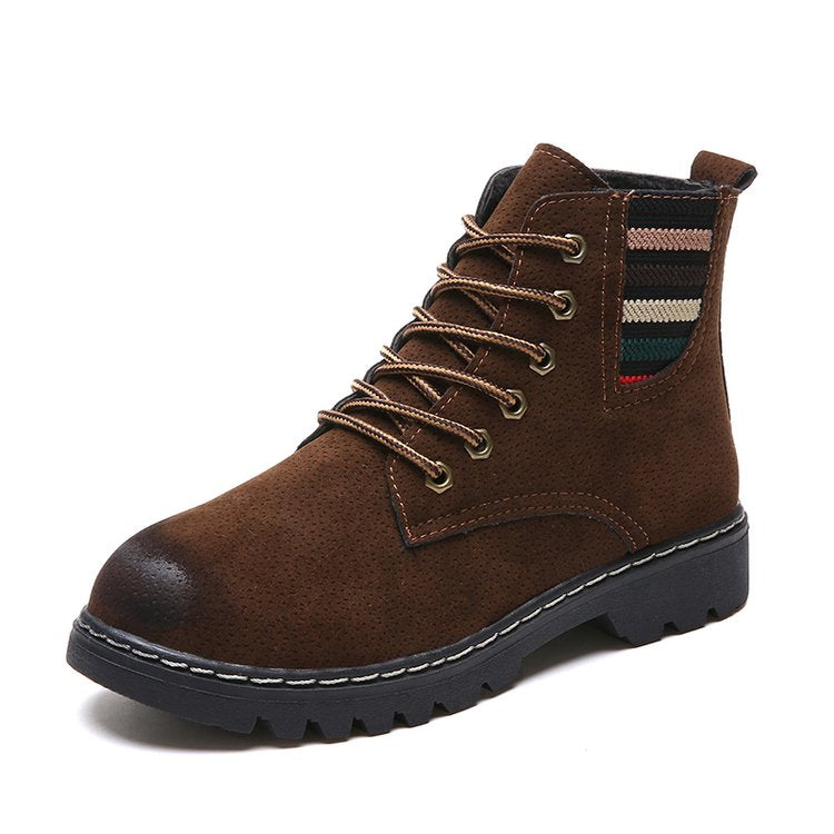 OBBVY-Women's Scrub Martin Boots Short Tube British Shoes