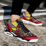 OBBVY-Hand Drawn Doodle Sneakers Painted Graffiti Shoes Ultra size EU39-47/US6.5-11.5