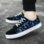 OBBVY-Men's Trend Sneakers Casual Canvas Shoes Cool Pattern Shoes