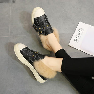 New Women's Loafers Warm Casual Shoes Beautiful Wedges