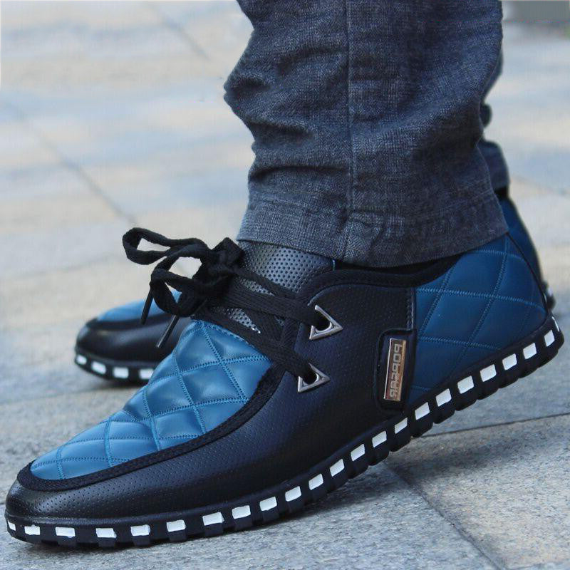 OBBVY-Large Size Men's Shoes Business Casual Shoes Fashion Lace-up Loafers
