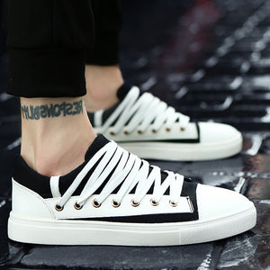 OBBVY-Low-top Lace-up Canvas Shoes Fashion Casual Men's Shoes Trend Sneakers