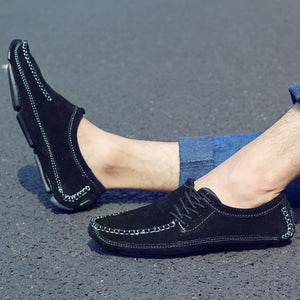 OBBVY-Ultra Size EU39-47/US6.5-11.5 Handmade Stitching Loafers Simple Design Men's Shoes Comfortable