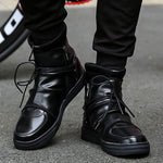 OBBVY-High-top Men's Shoes Casual Shoes Lace-up Booties