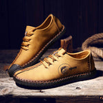 OBBVY-Handmade Outdoor  Shoes Large Size EUR38-48 Men's Casual Shoes Fashion British Style Shoes