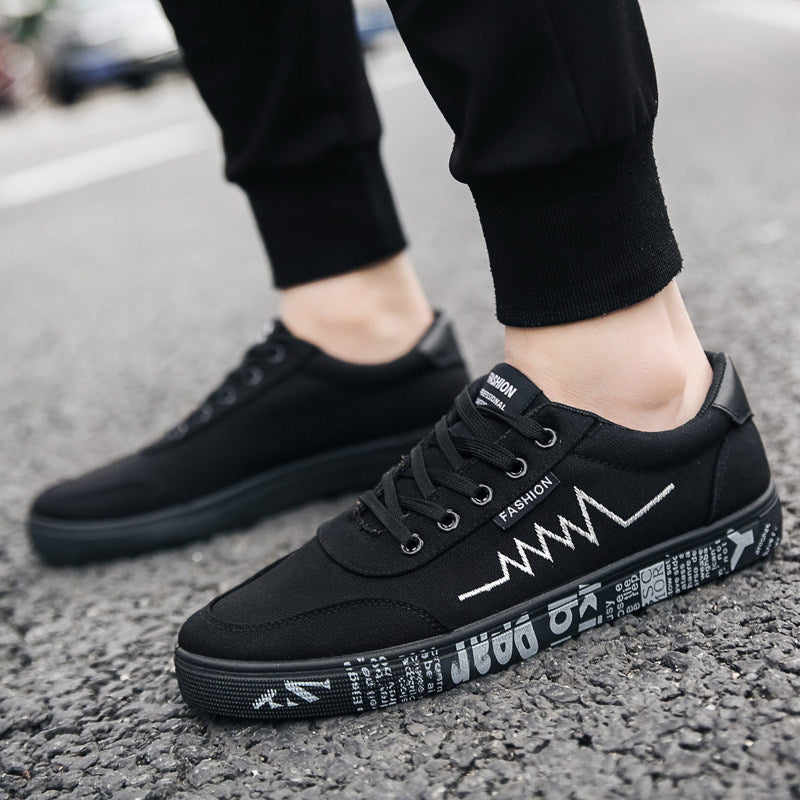 OBBVY-Men's Stylish Sneakers Casual Canvas Shoes Cool Pattern Shoes