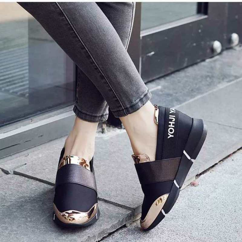 OBBVY-Fashion Women's Wedge Shoes Stylish Comfortable Casual Shoes