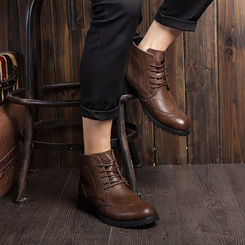 OBBVY-Retro Style Leather Boots