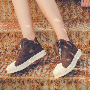 OBBVY-Women's Shell Head Platform Booties