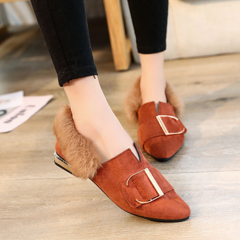 OBBVY-Pointed Suede Loafers