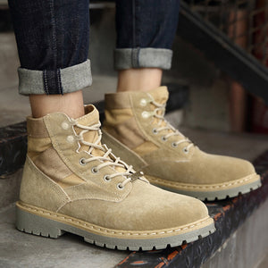 OBBVY-Outdoor  High-top Shoes Desert Martin Boots