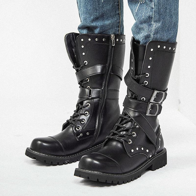OBBVY-Martin Boots Rider Boots High Boots