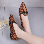 OBBVY-Pointed Leopard Loafers