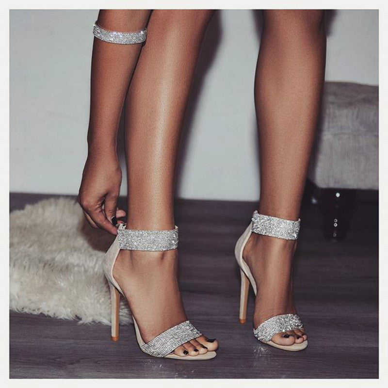 OBBVY-Fashion Rhinestone High Heels