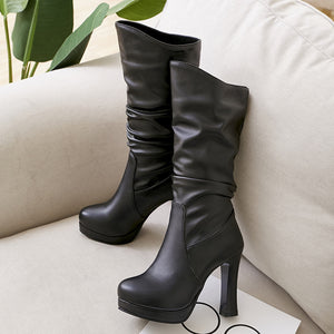 OBBVY-Super High Heeled Knight Boots