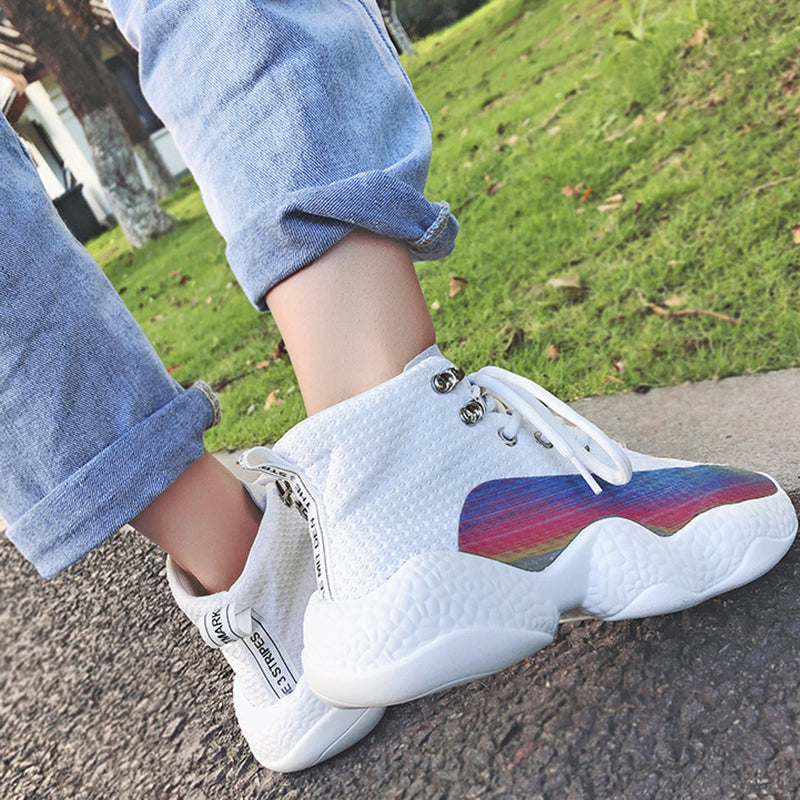OBBVY-Thick Bottom Mesh Comfortable Breathable Clunky Sneaker