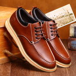 OBBVY-Lace-up Casual Leather Shoes Size EU38-46
