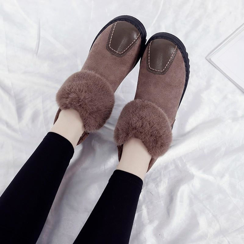 OBBVY-Plush And Velvet Warm Cotton Boots