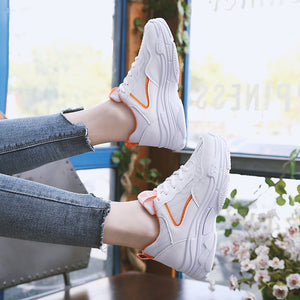 OBBVY-Ulzzang Thick-Soled Muffin Sneakers