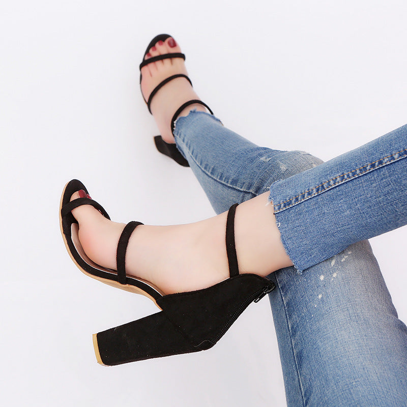 OBBVY-Large Size High Heel Sandals