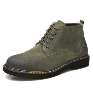 OBBVY-British Martin Boots Retro Casual Carved Men's Shoes