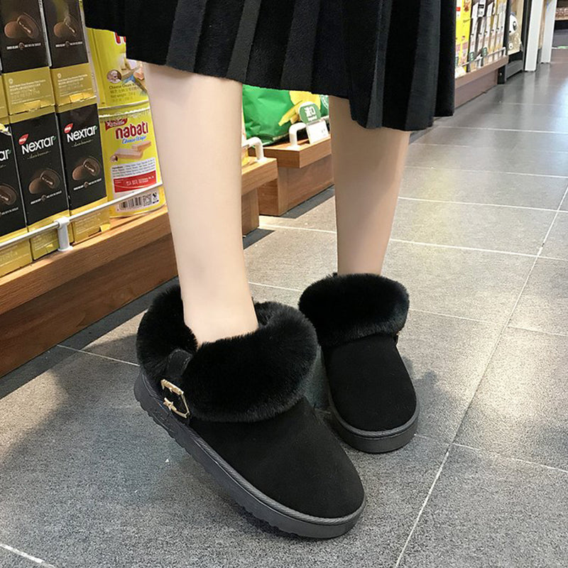OBBVY-Belt Buckle Warm Booties