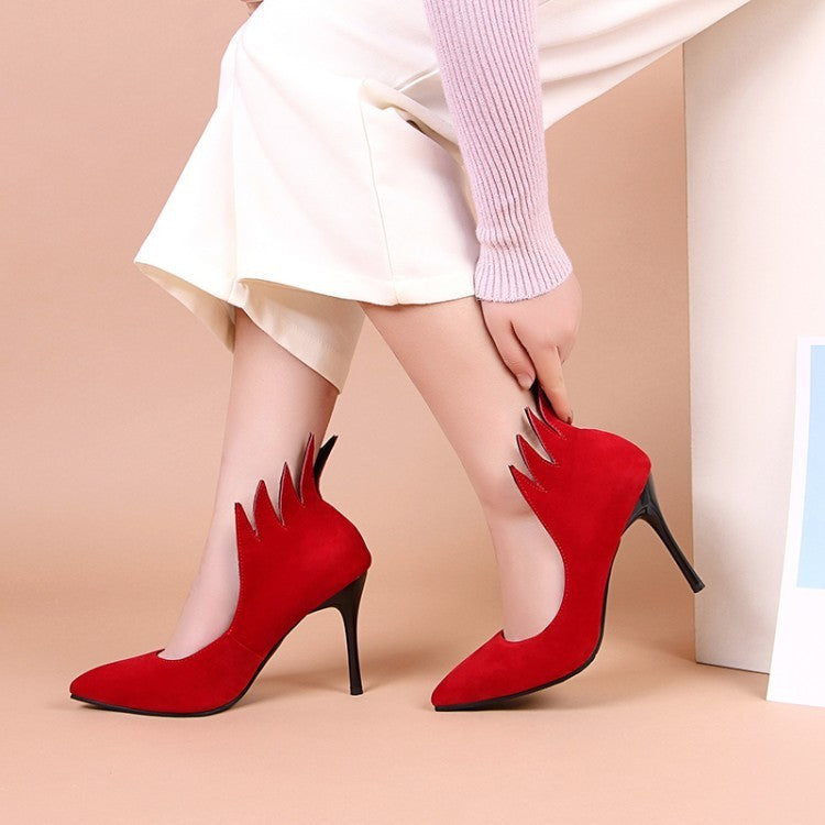 OBBVY-Pump Shoes High Heels Size EU34-43