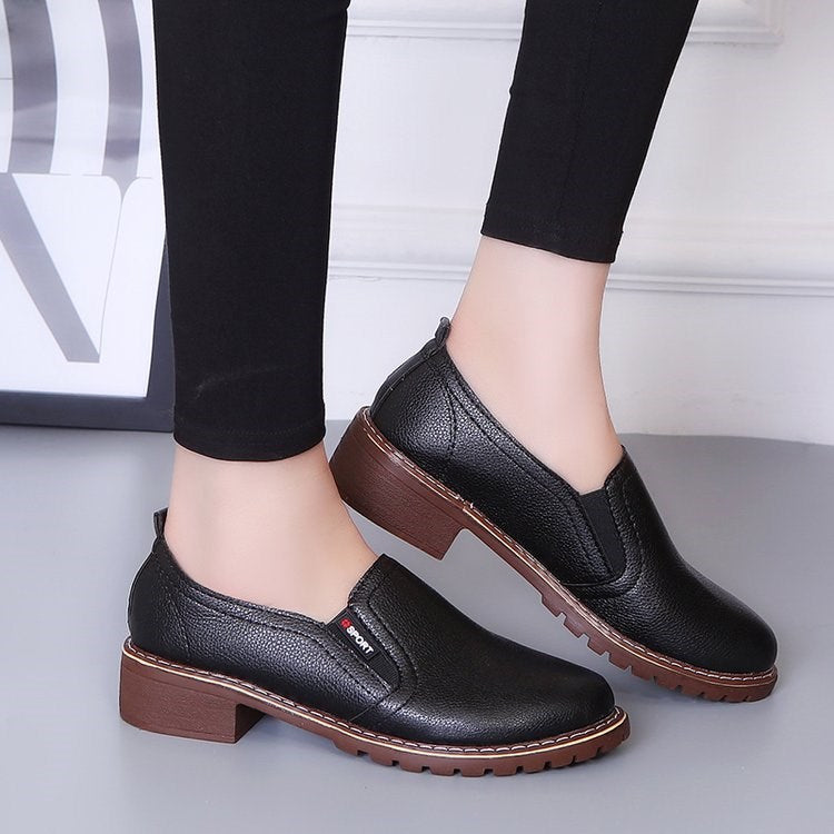 OBBVY-Women's Simple Leather Shoes Loafers
