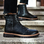 OBBVY-Carved Vintage Martin Boots Size EU38-47