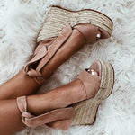 OBBVY-Summer Lace Wedge Sandals