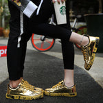 OBBVY-Golden Sneakers Unisex Shoes Size US5-12/EU36-46