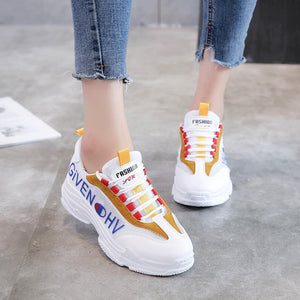 OBBVY-Color Matching Harajuku Breathable Sneakers