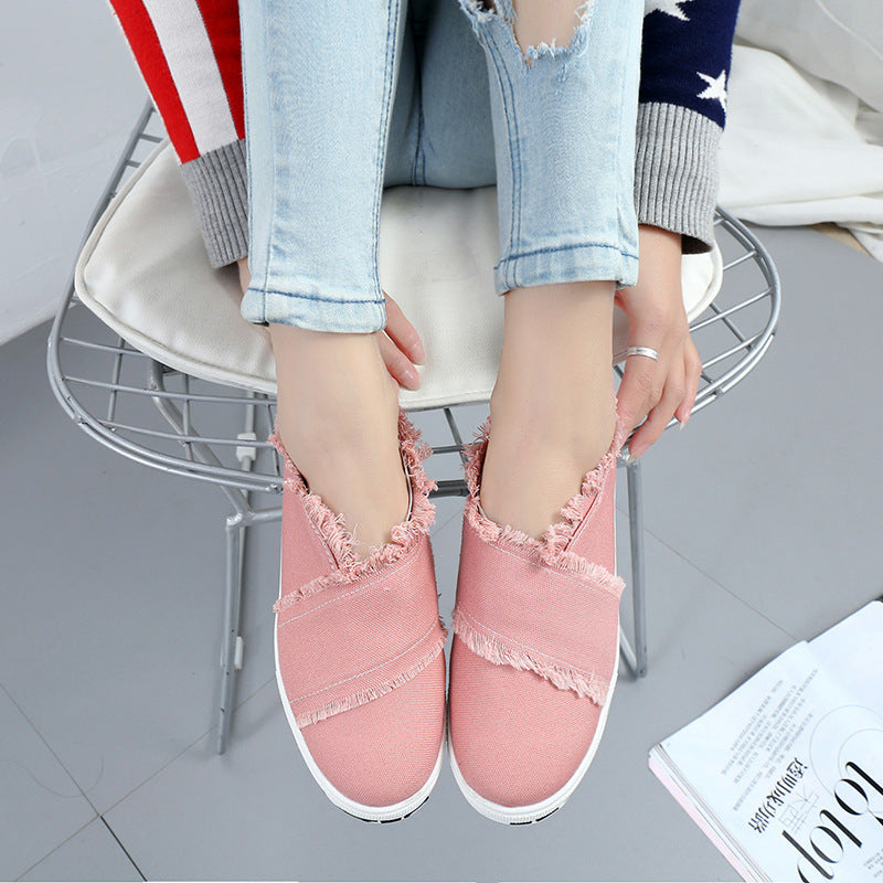 OBBVY-Thick-Soled Solid Color Loafers