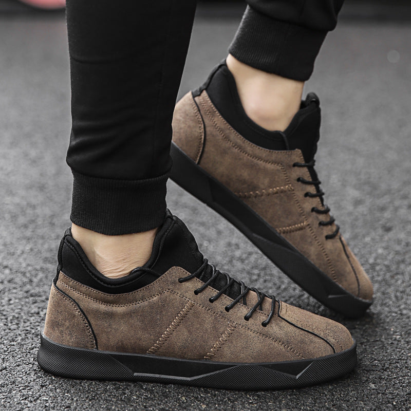 OBBVY-Men's Casual Shoes Boots High-top Shoes
