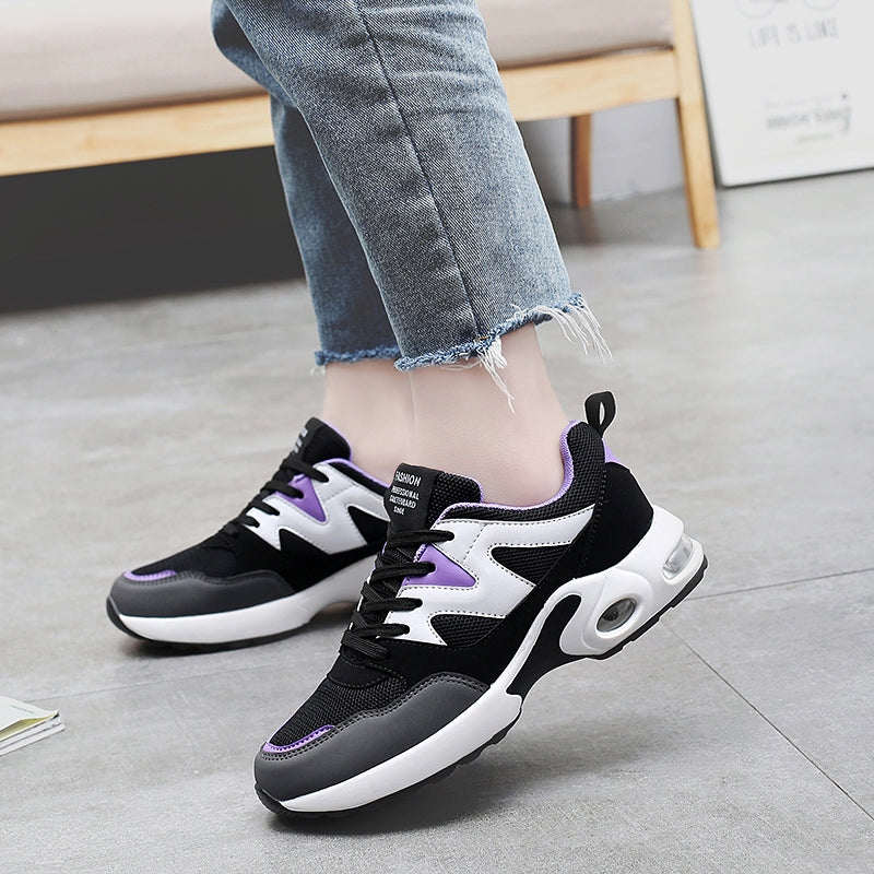 OBBVY-Lace-up Color Matching Sneakers