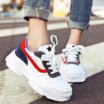 OBBVY-Round Head Lace-up Platform Sneakers