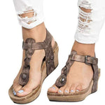 OBBVY-Women's Wedge Sandals
