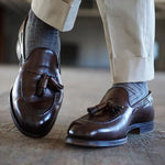 OBBVY-Leather Shoes British Style Trend Loafers