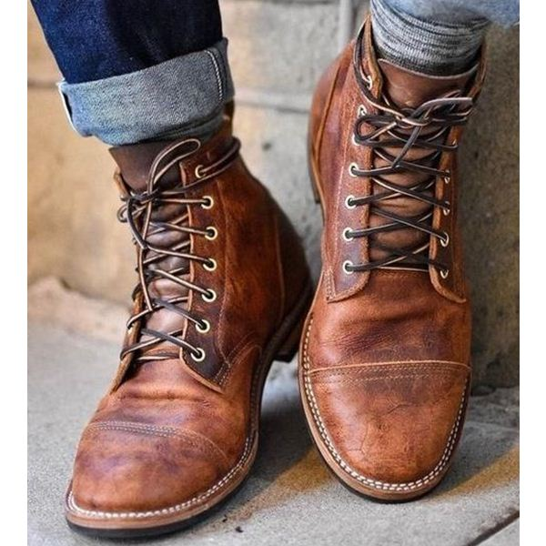OBBVY-Martin Boots Bullock Boots Carved Chelsea Size US6.5-13.5/EU39-48