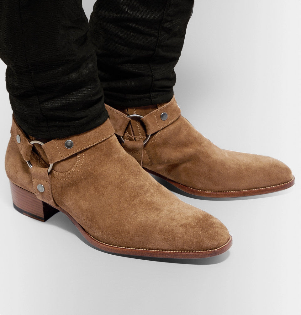 OBBVY-Matte Leather Zipper Boots Size US6-13.5/EU38-48