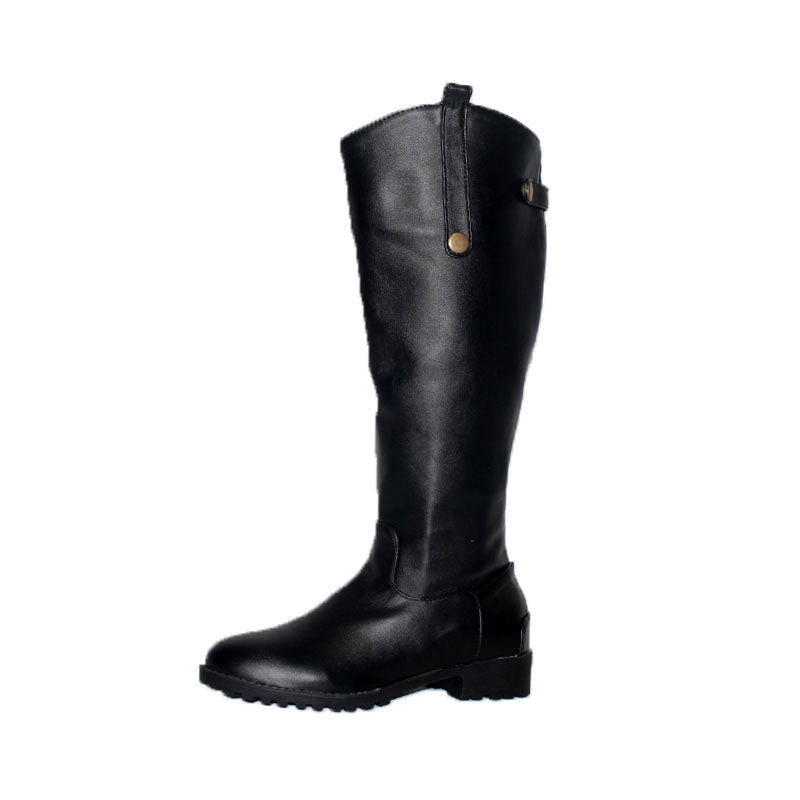 OBBVY-Fashion Flat Round Head Comfortable Boots