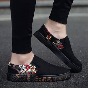 OBBVY-Fashion Casual Loafers Breathable Canvas Shoes