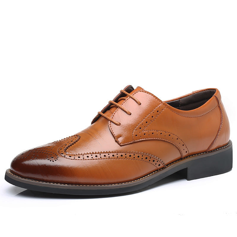 OBBVY-Bullock Carved Leather Shoes Size EU37-48