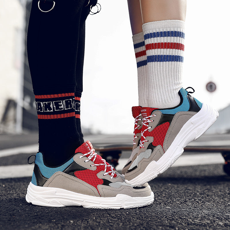 OBBVY-Vintage Harajuku Couple Clunky Sneaker