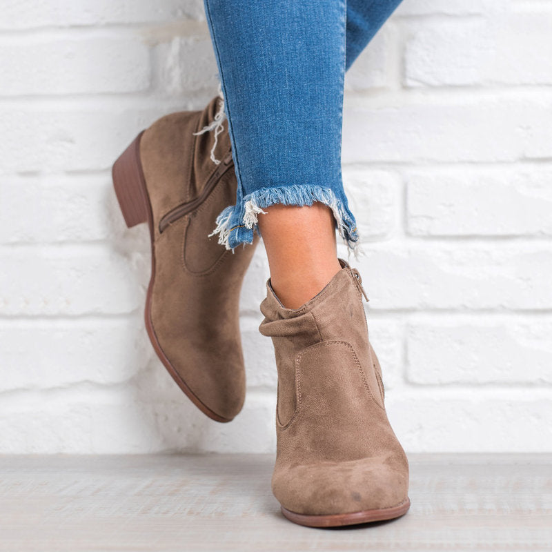 OBBVY-Comfortable Suede Booties