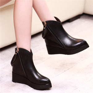 OBBVY-Women's Wedge Boots