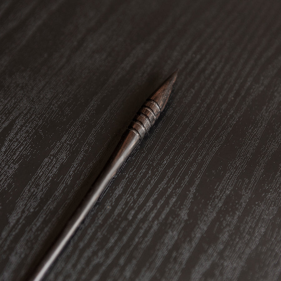 Nāra | Black Wood Hair Stick