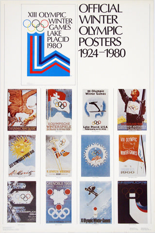 Official Winter Olympic Posters 1924-1980