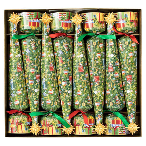 Caspari Musical Jamboree Tree Cone-Shaped Celebration Christmas Crackers
