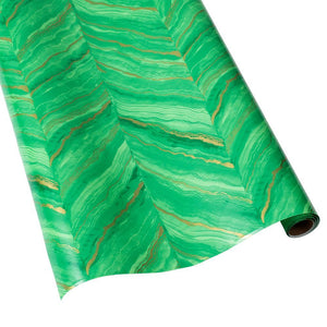Caspari Marble Gift Wrapping Paper in Green